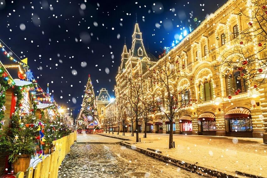 Рождественская и новогодняя Москва