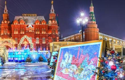 Пешеходная новогодняя экскурсия в Москве